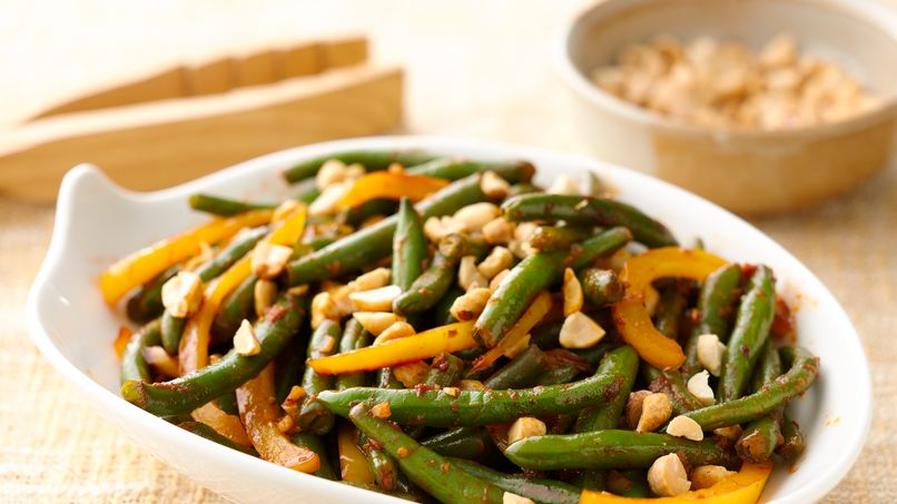 Spicy Asian Garlic Green Beans