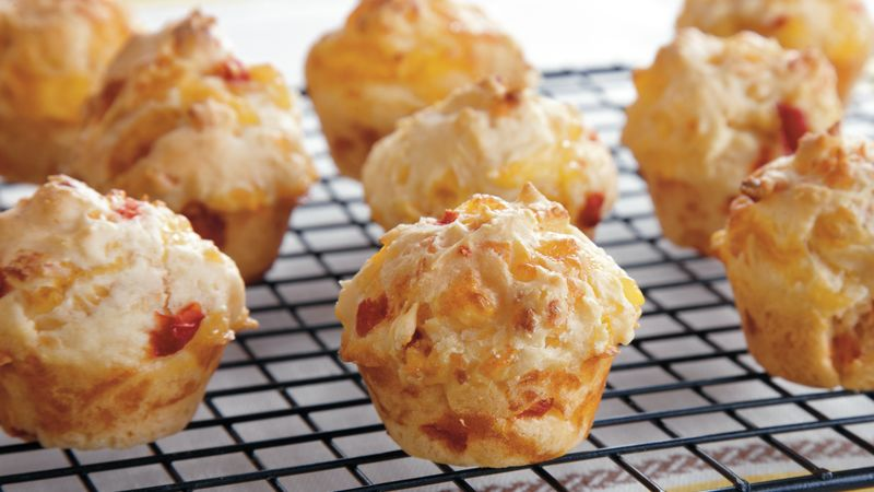 Mini Beer Pimiento Cheese Muffins
