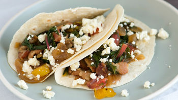 Bacon and Swiss Chard Tacos