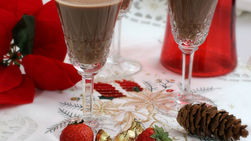 Chocolate and Strawberry Coquito