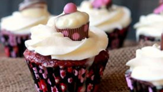 Tres Leches Red Velvet Cupcakes