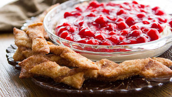 Cherry Cheesecake Dip with Cinnamon-Sugar Dipping Sticks
