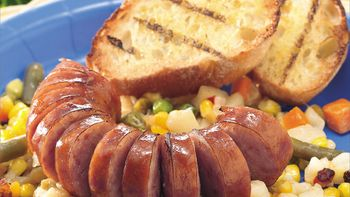 Grilled Sausage and Potato Foil Packs
