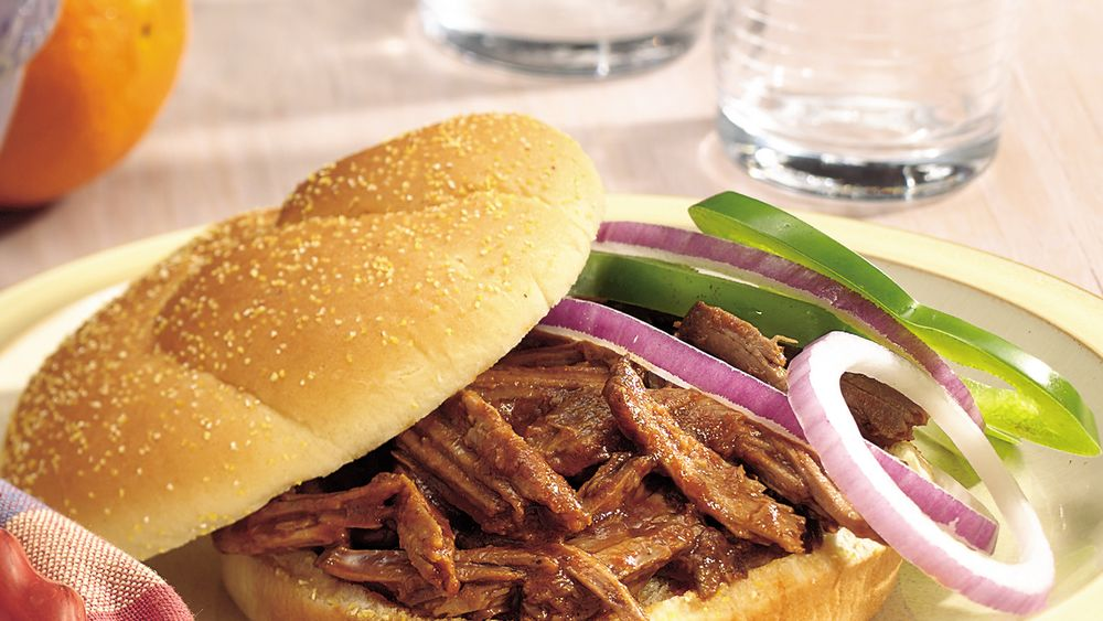 Slow-Cooker Root Beer Barbecue Beef Sandwiches