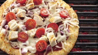 Grilled Mini Barbecue Pizza Wedges