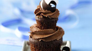 Double Dark Chocolate-Coconut Cupcakes