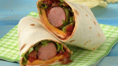 Grilled Salsa Hot Dog Wraps