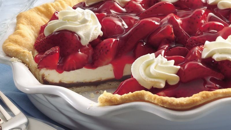 Black Bottom Strawberry Cream Pie