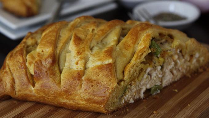 Easy Braided Chicken Bake