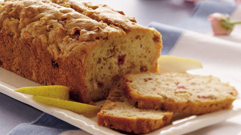 Pear-Rhubarb Flaxseed Bread