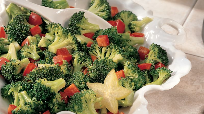 Broccoli and Red Pepper Toss