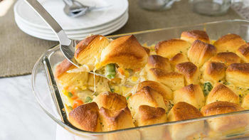 Chicken Pot Pie Bubble-Up Bake