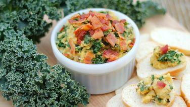 Roasted Garlic Dip with Kale