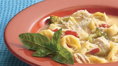 Chicken-Broccoli-Tortellini Soup