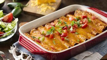Easy Chicken and Black Bean Enchiladas