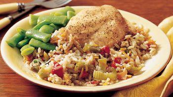 Slow-Cooker Italian Turkey-Rice Dinner
