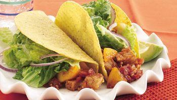 Peachy Chipotle-Pork Tacos