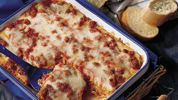 Italian Sausage Lasagna (lighter recipe)