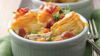 Mini Bacon Chicken Pot Pies