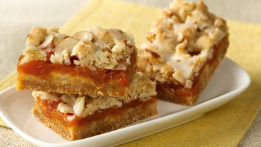 Apricot Bars with Cardamom-Butter Glaze
