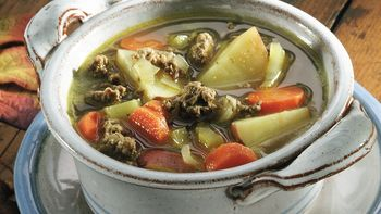 Curried Ground Beef and Vegetable Soup