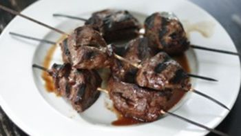 Grilled Marinated Steak Skewers