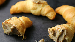Crescent Rolls with Chipotle and Pomegranate Butter
