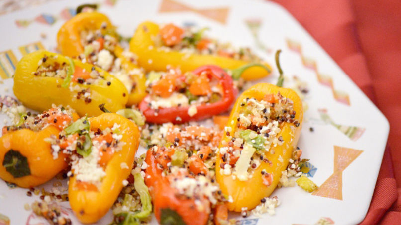 Quinoa-Stuffed Sweet Peppers