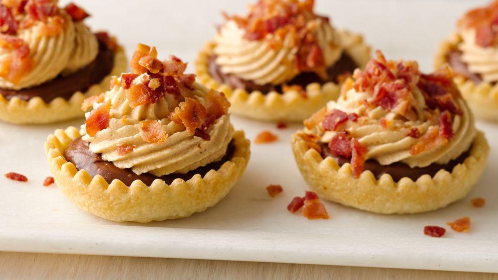 Chocolate-Peanut Butter-Bacon Tartlets