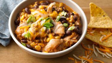 Slow-Cooker Cheesy Chicken Enchilada Chili