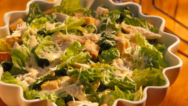 Quick Chicken Caesar Salad