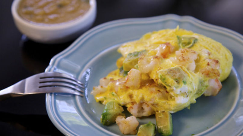 Shrimp Avocado Omelet
