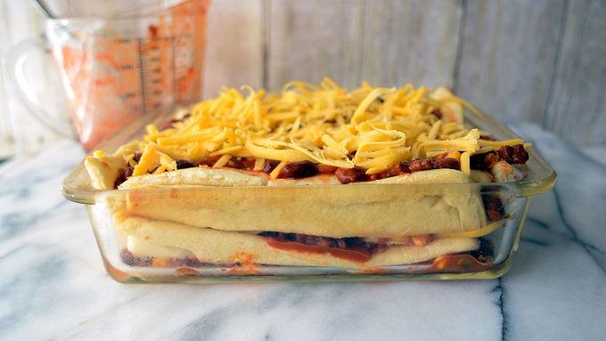 Cheesy Chili Crescent Lasagna Recipe - Tablespoon.com