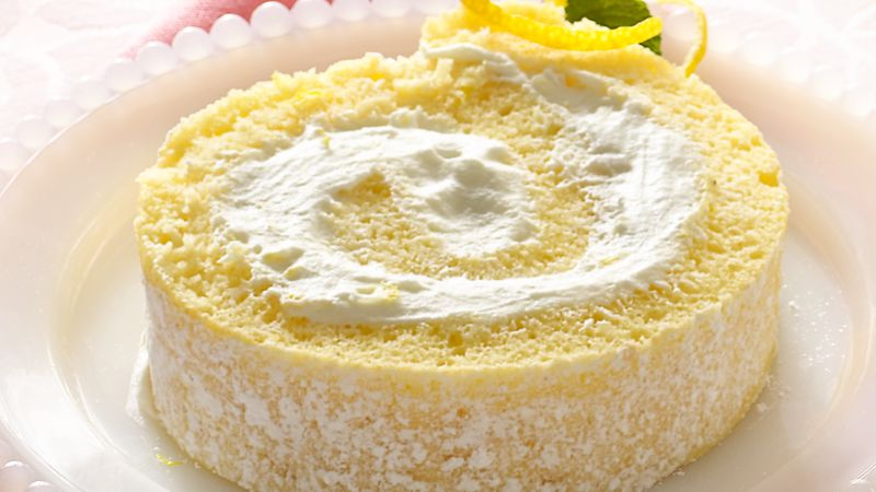 Lemon Cream Rolled Cake