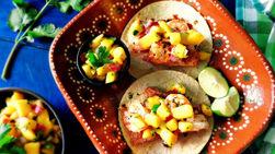 Shrimp and Tilapia Tacos with Mango Salsa