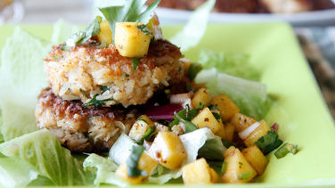 Coconut Shrimp Patty with Mango Salsa
