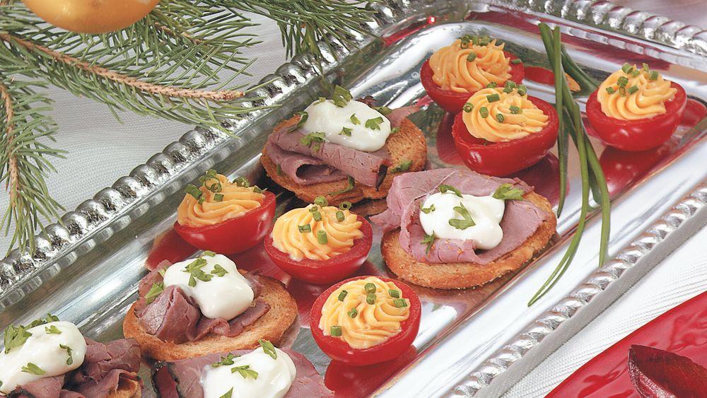 Garlic-Horseradish Roast Beef Crisps