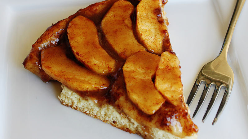 Caramel Apple Skillet Pizza