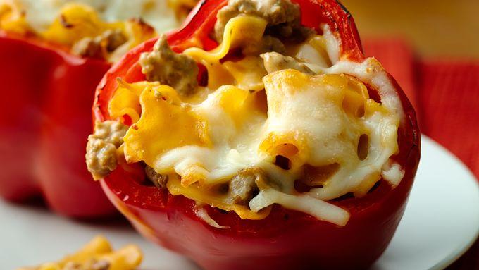 Cheesy Lasagna Stuffed Peppers