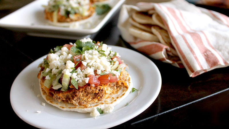 Chorizo and Egg Biscuit Tostadas