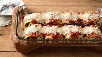 Make-Ahead Meat-Lovers' Lasagna Roll-Ups