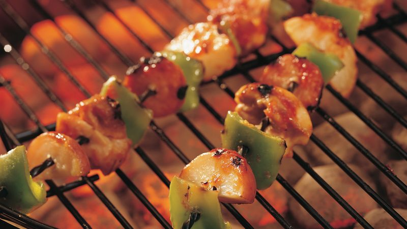 Grilled Creole Chicken and Sausage Kabobs
