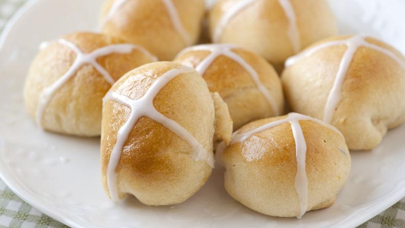 Lemon and Ginger Hot Cross Buns