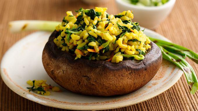 Curried Vegetable Stuffed Portabellas
