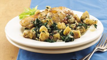Baked Chicken and Spinach Stuffing