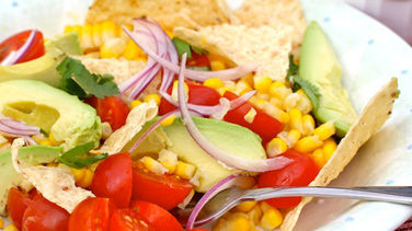 Corn Salad with Tomato and Tortilla