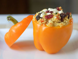 Moroccan Couscous Stuffed Peppers