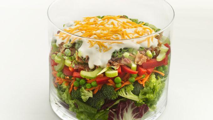 Skinny Layered Vegetable Salad