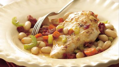 Tuscan Rosemary Chicken and White Beans