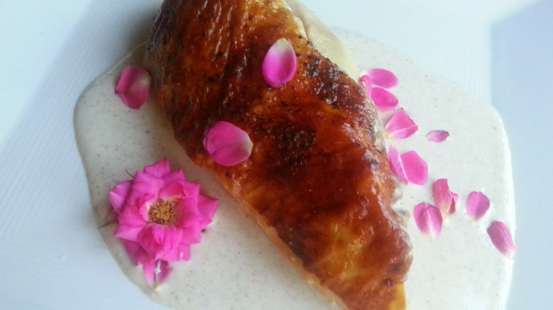 Pechugas de Pollo en Salsa de Rosas